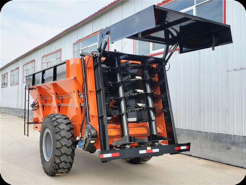 10吨双竖螺旋式固体有机肥撒肥车